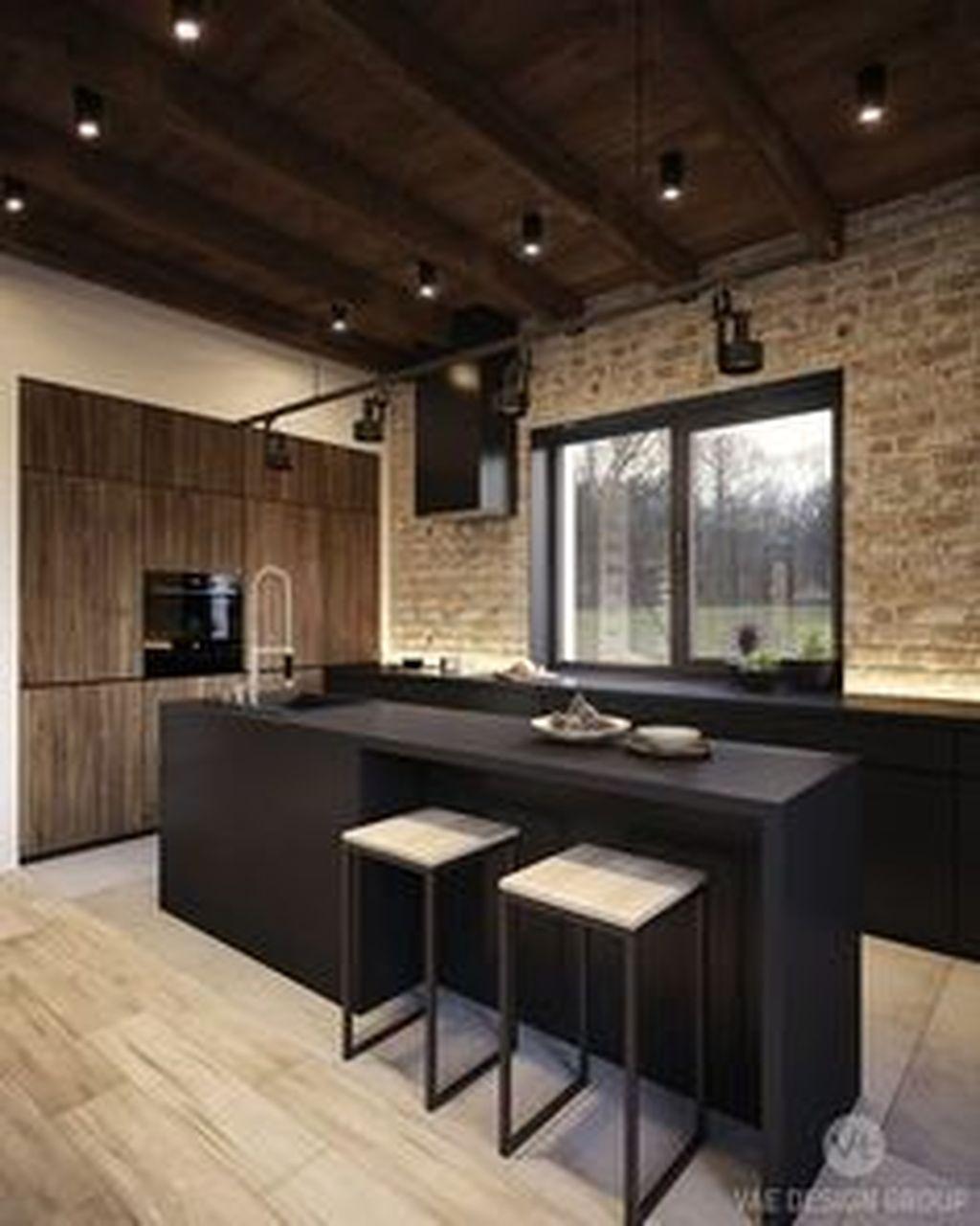 Fabulous Black And White Wood Kitchen Design Ideas 18