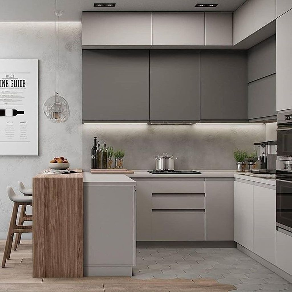 Fabulous Black And White Wood Kitchen Design Ideas 24