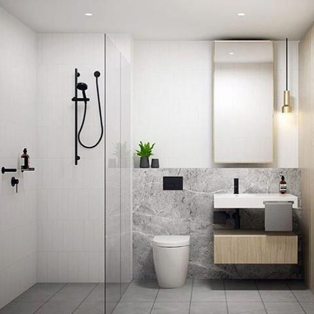 Fascinating Minimalist Bathroom Decoration Ideas 25