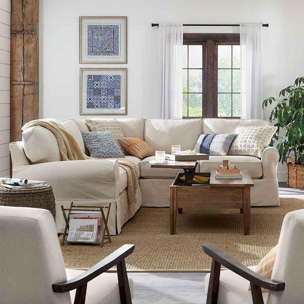 Inspiring Beachy Farmhouse Living Room Decor Ideas 07