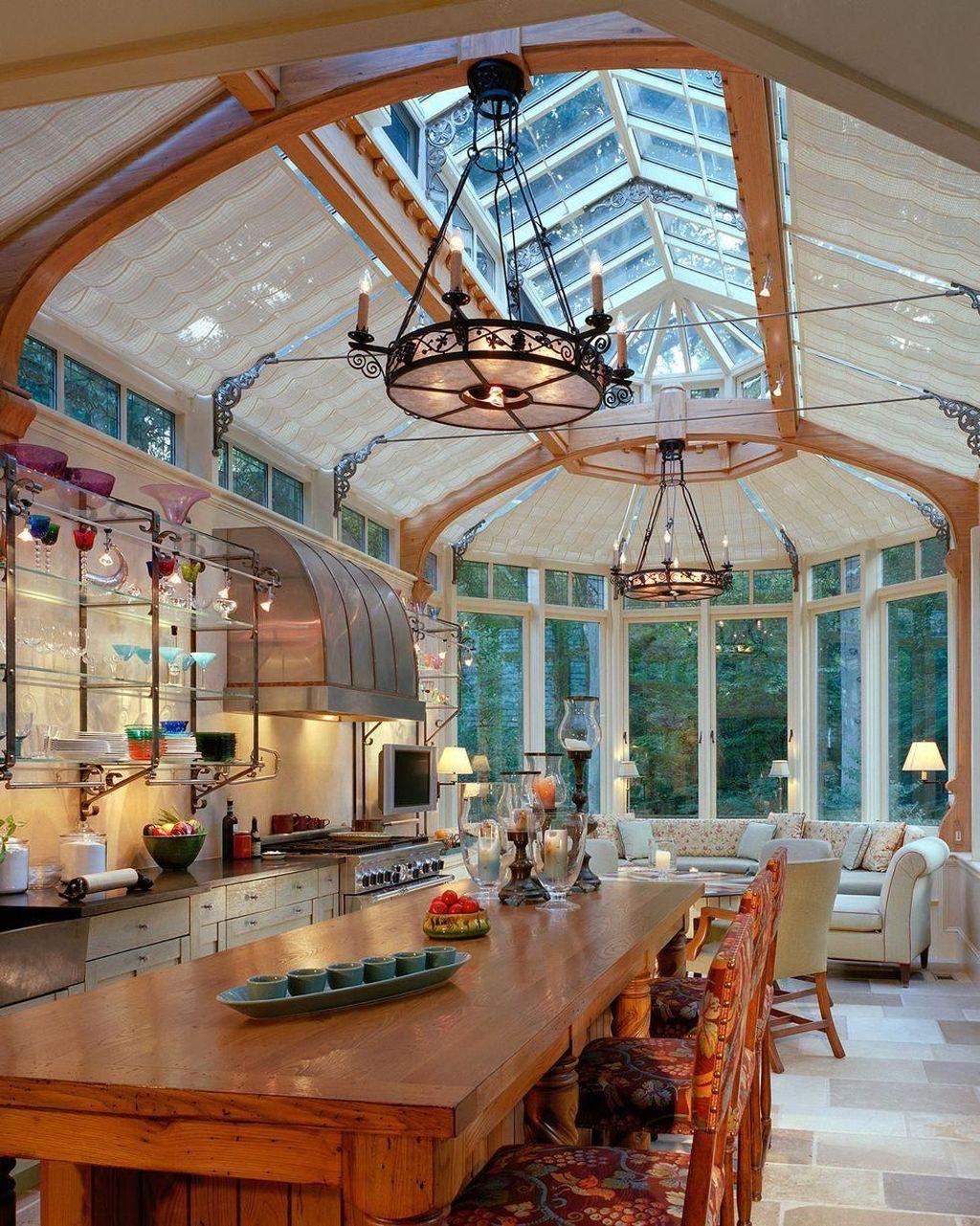 Inspiring Conservatory Kitchen Design Ideas 24