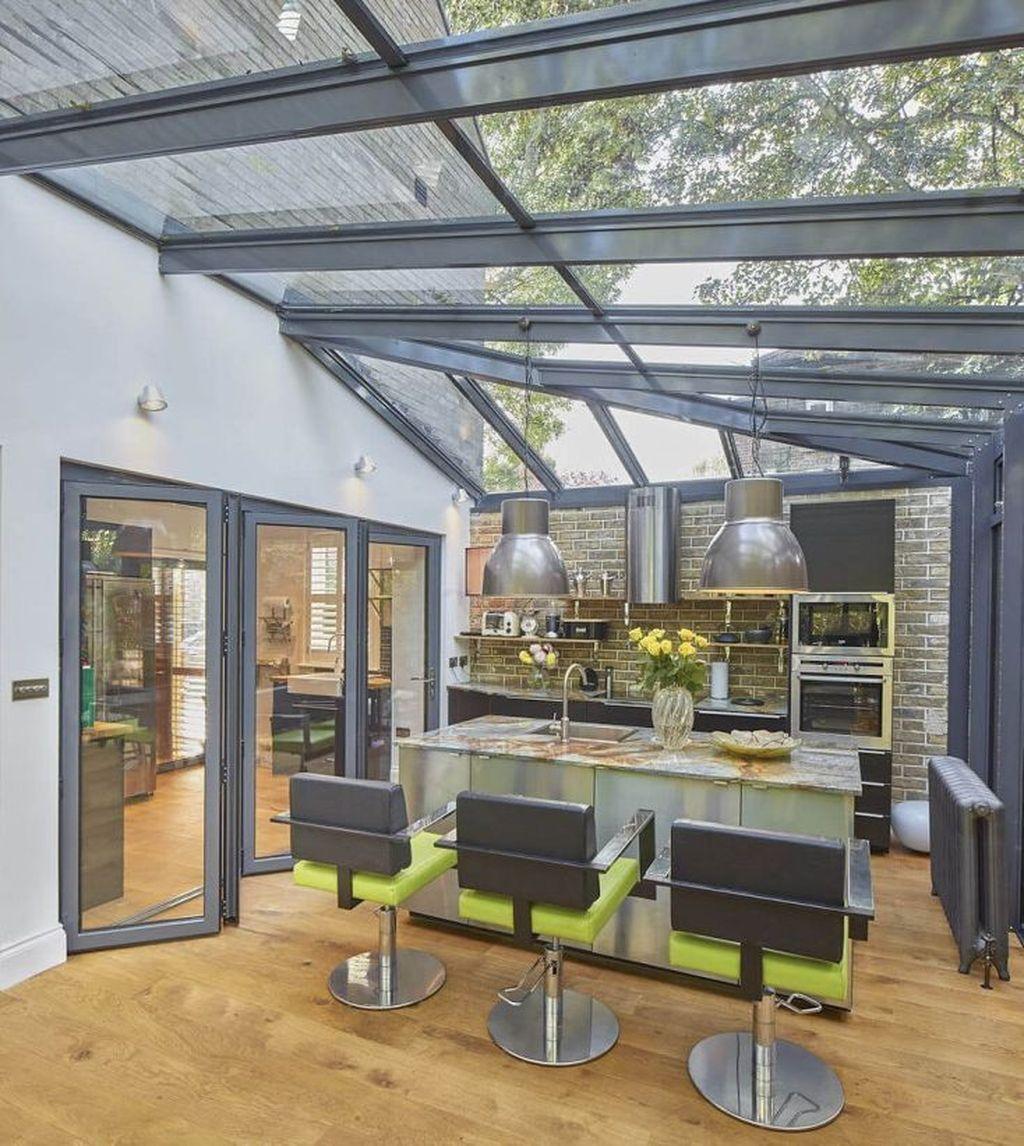 Inspiring Conservatory Kitchen Design Ideas 32
