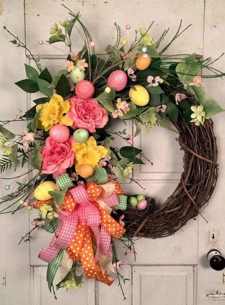 Inspiring Spring Door Wreaths For Your Home Decoration 09