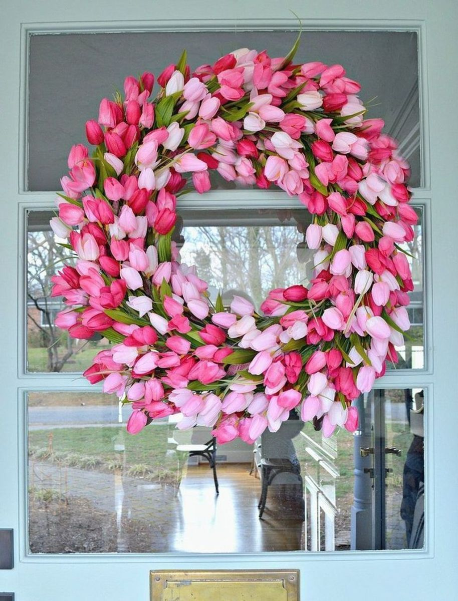 Inspiring Spring Door Wreaths For Your Home Decoration 13