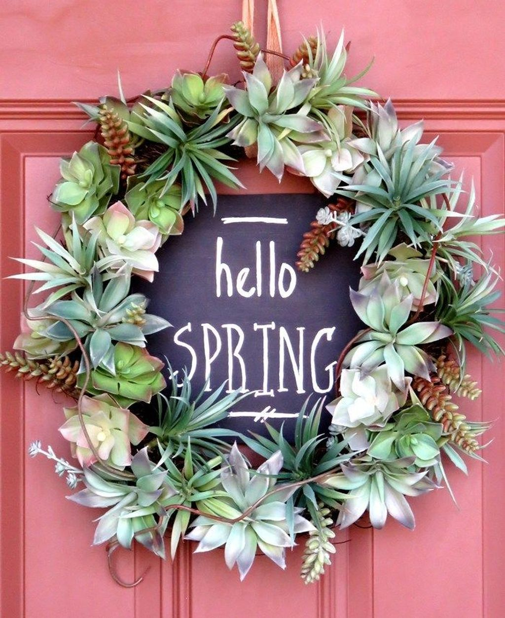 Inspiring Spring Door Wreaths For Your Home Decoration 16