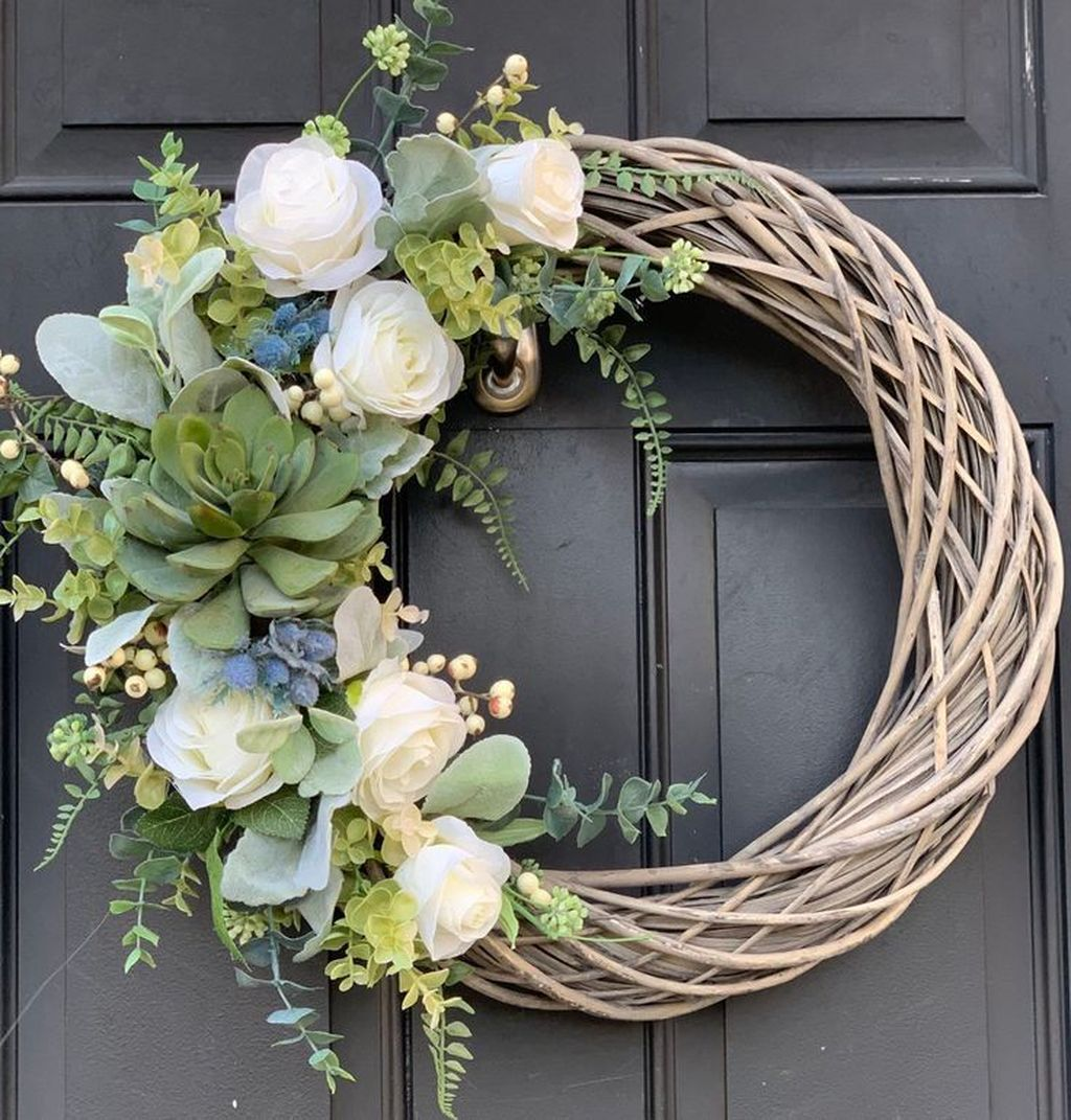 Inspiring Spring Door Wreaths For Your Home Decoration 28