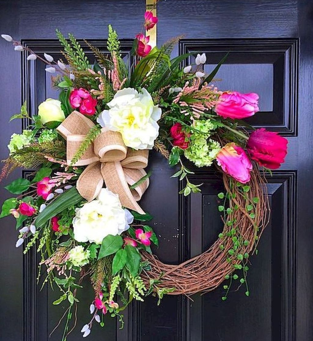 Inspiring Spring Door Wreaths For Your Home Decoration 32