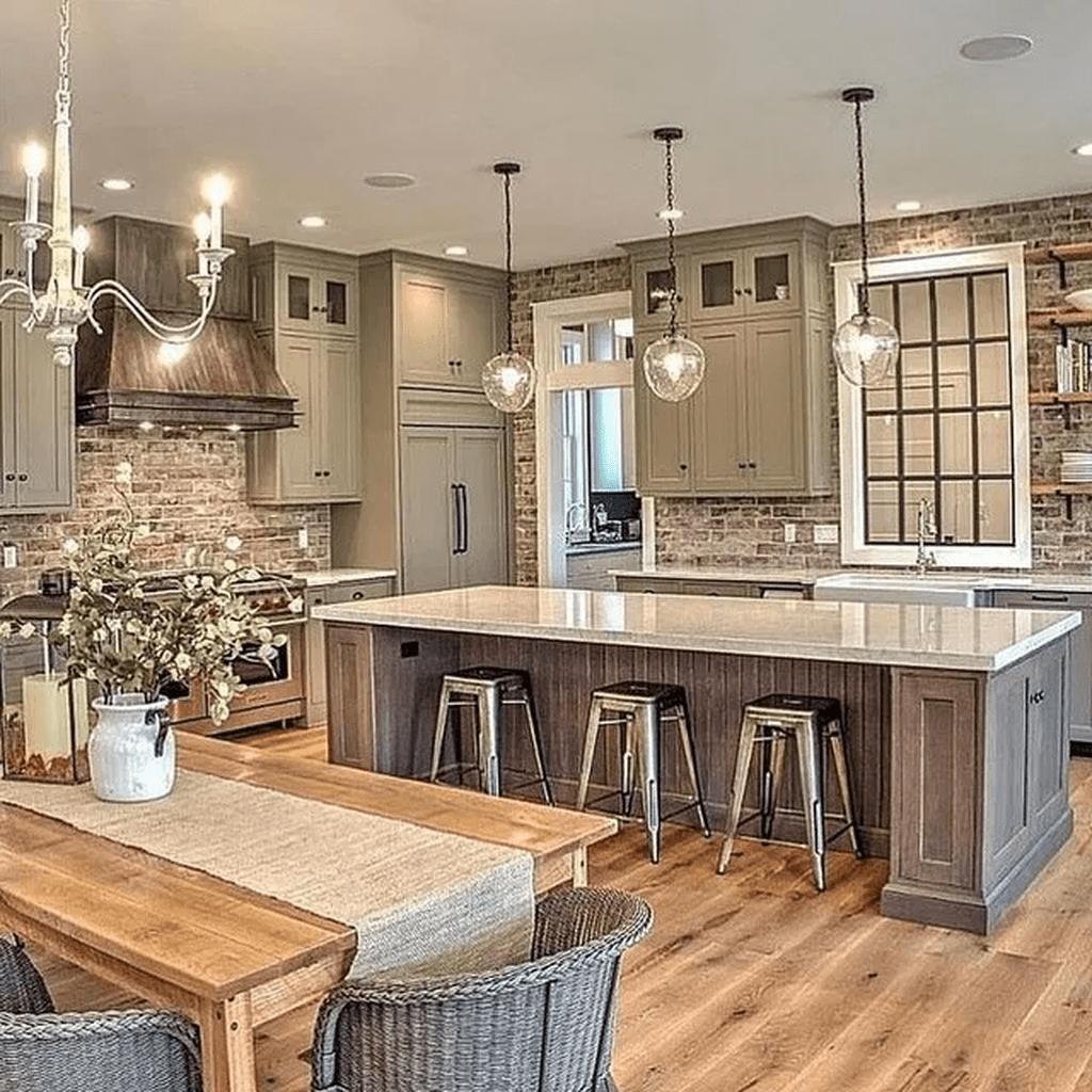 Stunning Modern Farmhouse Kitchen Table Design Ideas 15