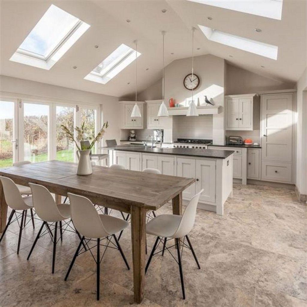Stunning Modern Farmhouse Kitchen Table Design Ideas 20