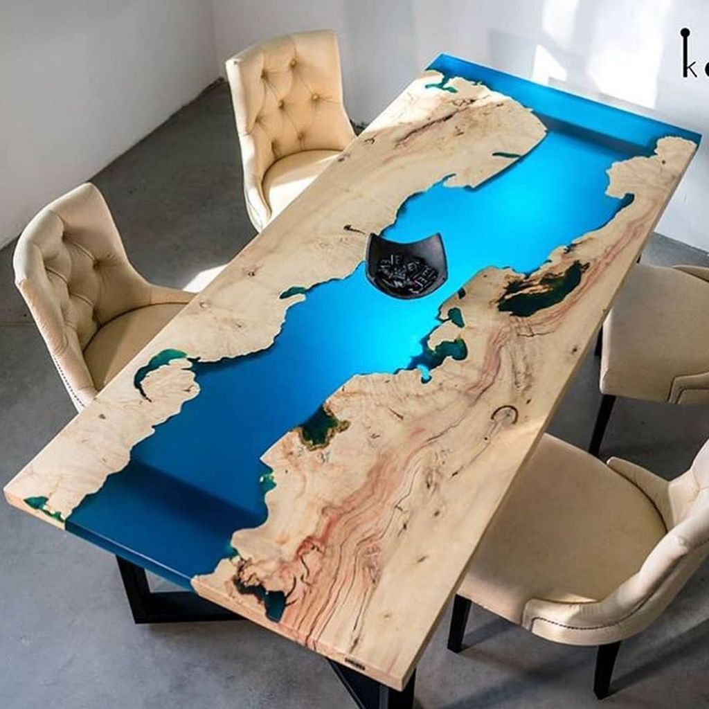Stunning Resin Wood Table Design Ideas You Will Love 03