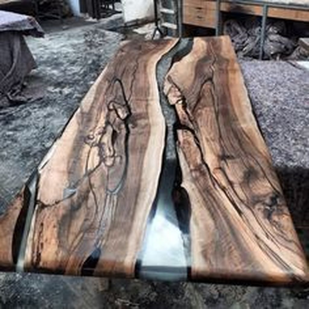 Stunning Resin Wood Table Design Ideas You Will Love 10