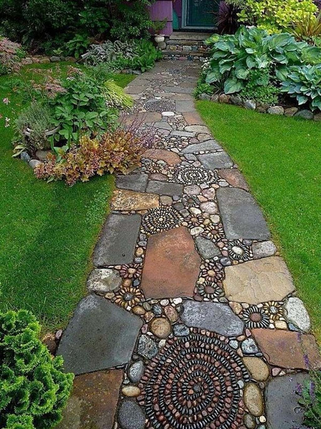 Stunning Stepping Stones Pathway Design Ideas 33