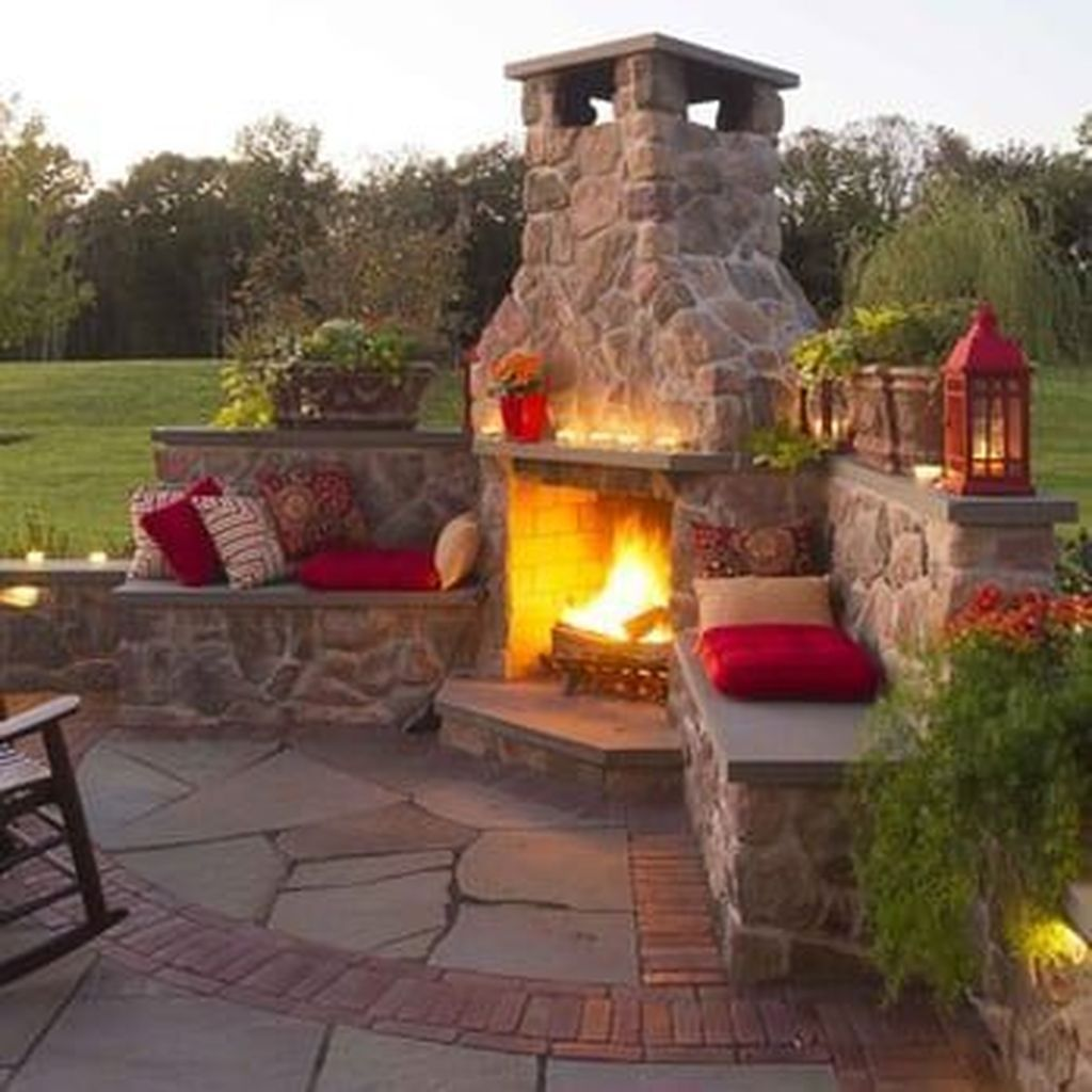 The Best Backyard Fireplace Design Ideas You Must Have 12