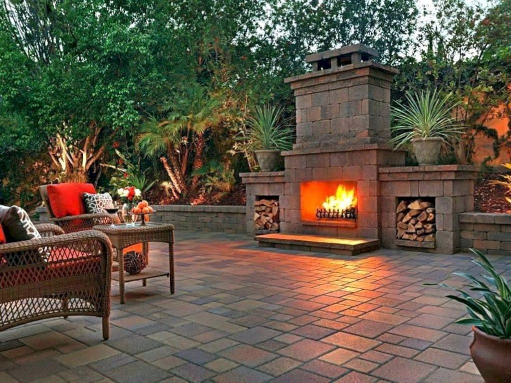 The Best Backyard Fireplace Design Ideas You Must Have 20