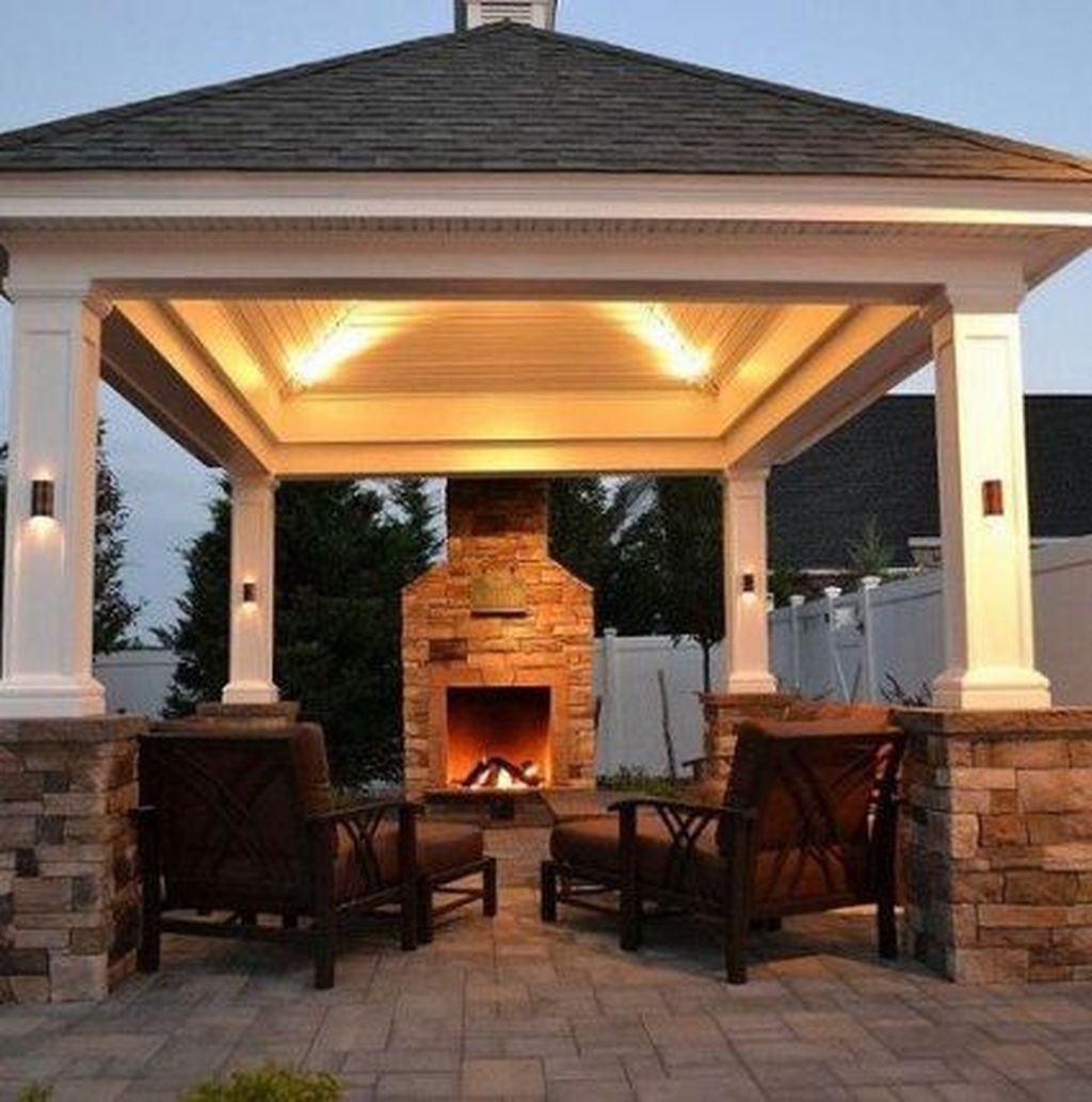 The Best Backyard Fireplace Design Ideas You Must Have 25