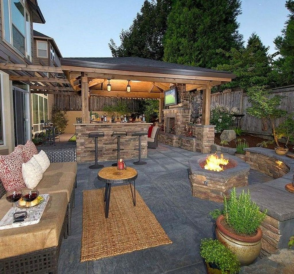 The Best Backyard Fireplace Design Ideas You Must Have 31