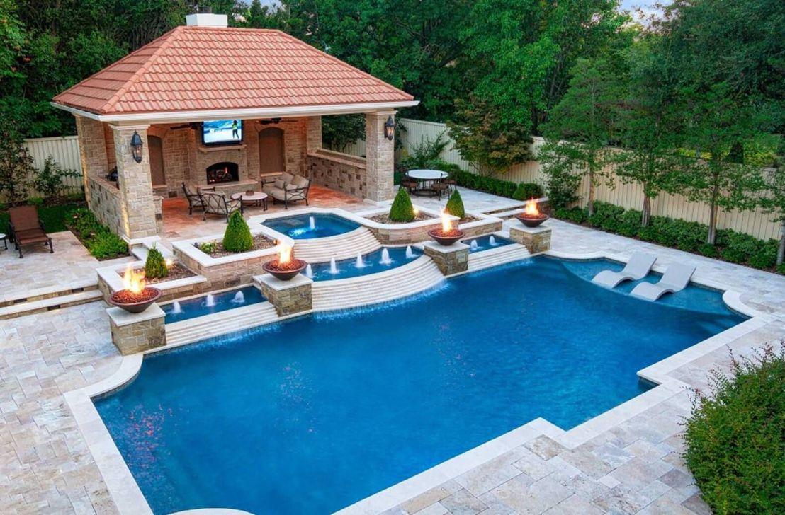 34 Fabulous Backyard Pool Landscaping Ideas You Never Seen Before Hmdcrtn