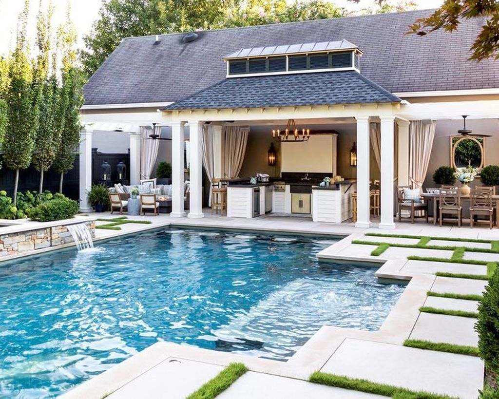 Fabulous Backyard Pool Landscaping Ideas You Never Seen Before 24