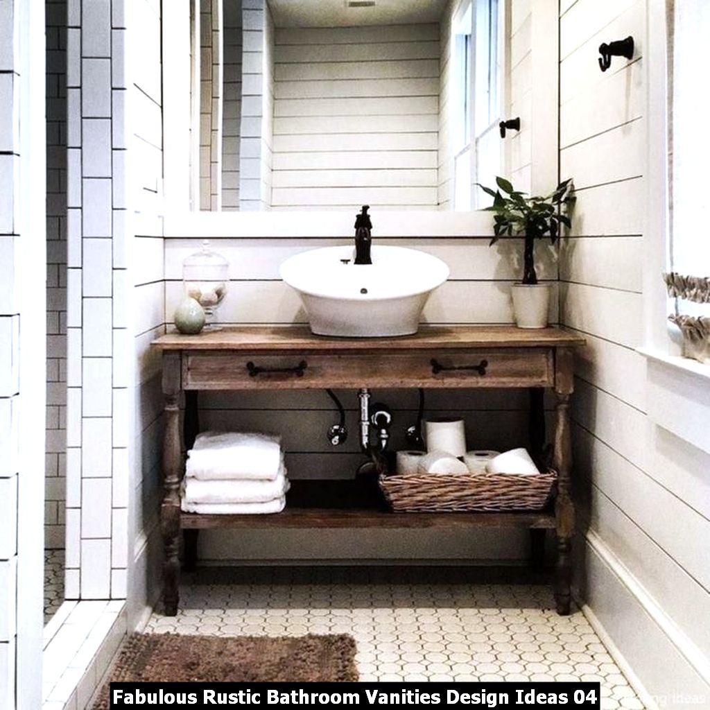 Fabulous Rustic Bathroom Vanities Design Ideas 04