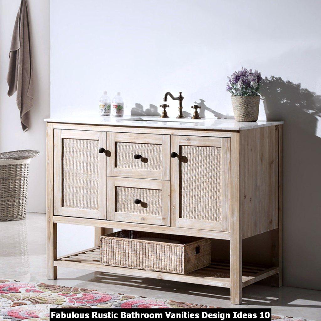 Fabulous Rustic Bathroom Vanities Design Ideas 10