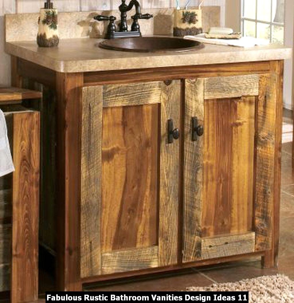 Fabulous Rustic Bathroom Vanities Design Ideas 11