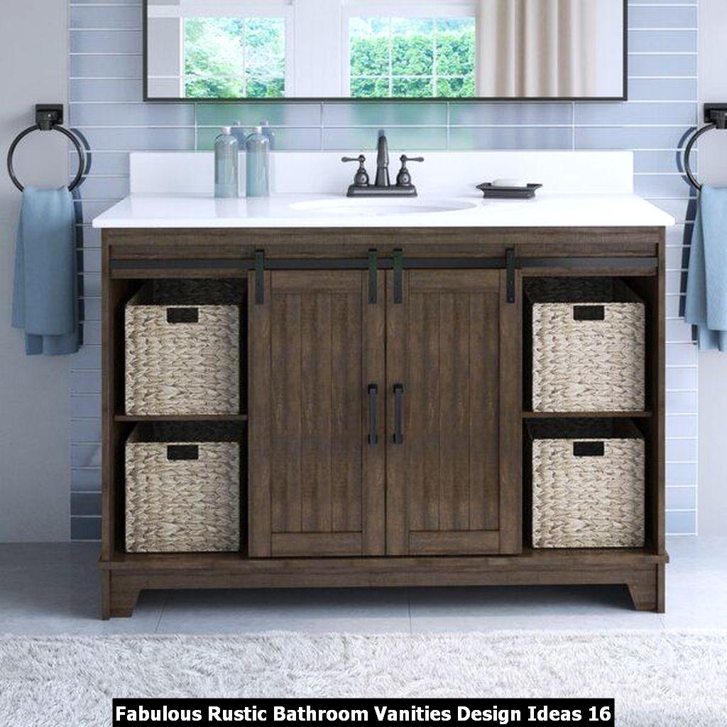 Fabulous Rustic Bathroom Vanities Design Ideas 16