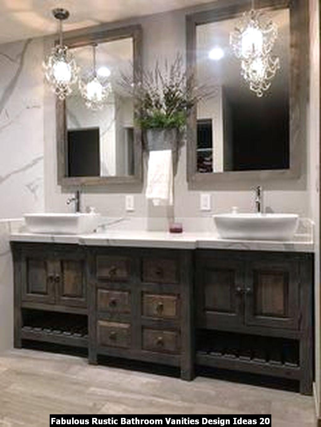 Fabulous Rustic Bathroom Vanities Design Ideas 20