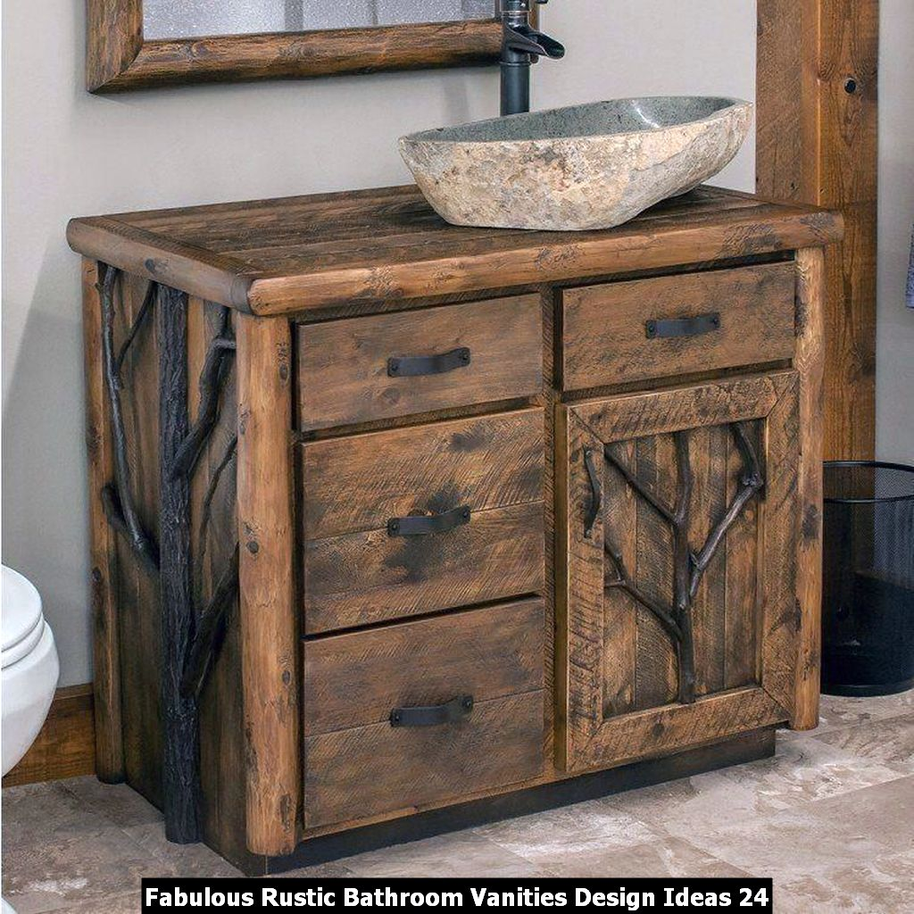 Fabulous Rustic Bathroom Vanities Design Ideas 24
