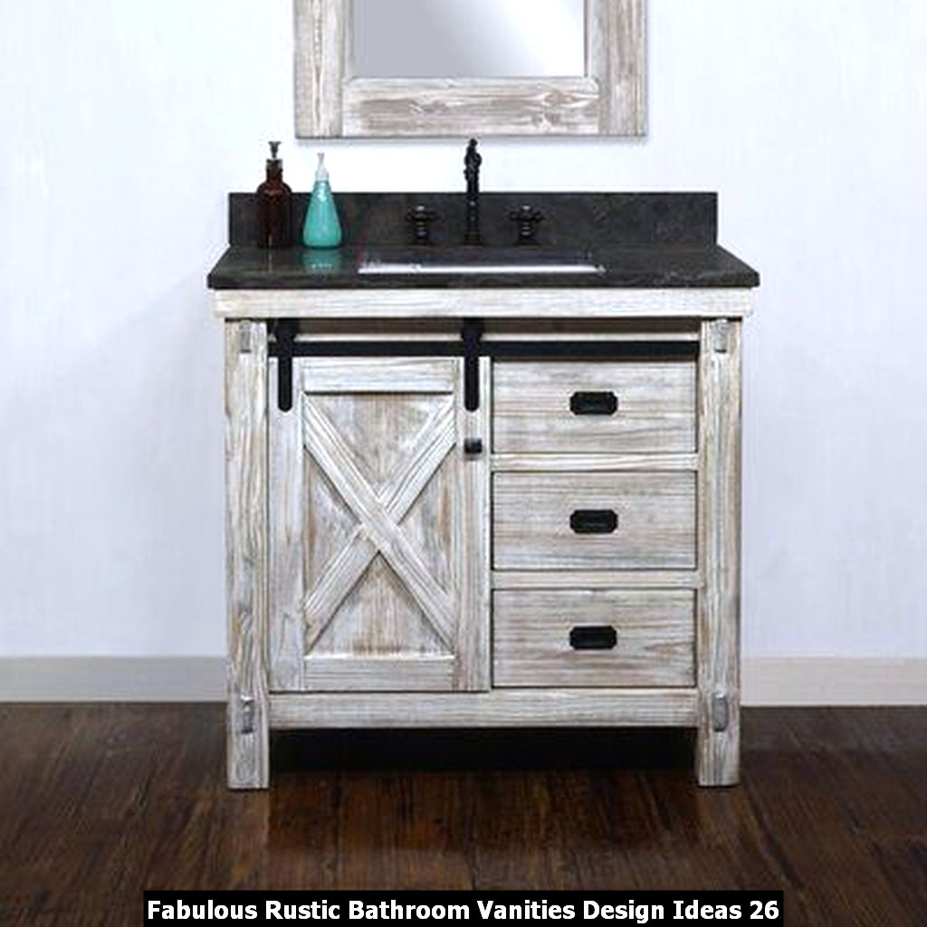 Fabulous Rustic Bathroom Vanities Design Ideas 26
