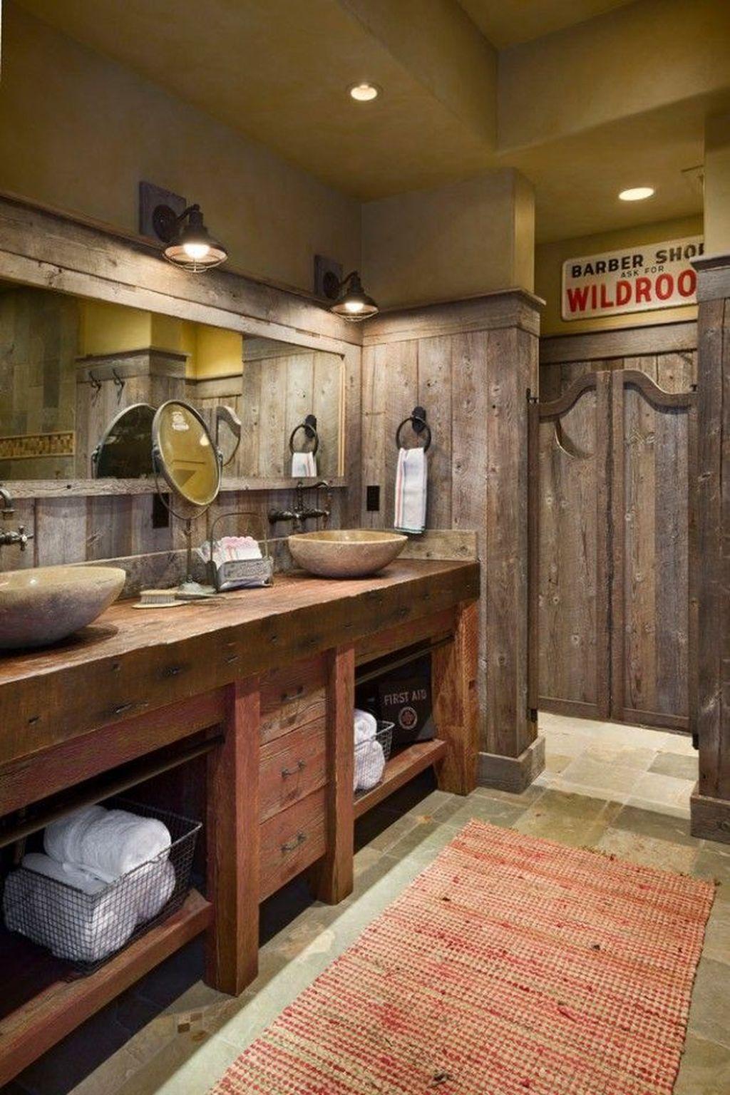 Fascinating Rustic Bathroom Decor Ideas You Must Copy 26