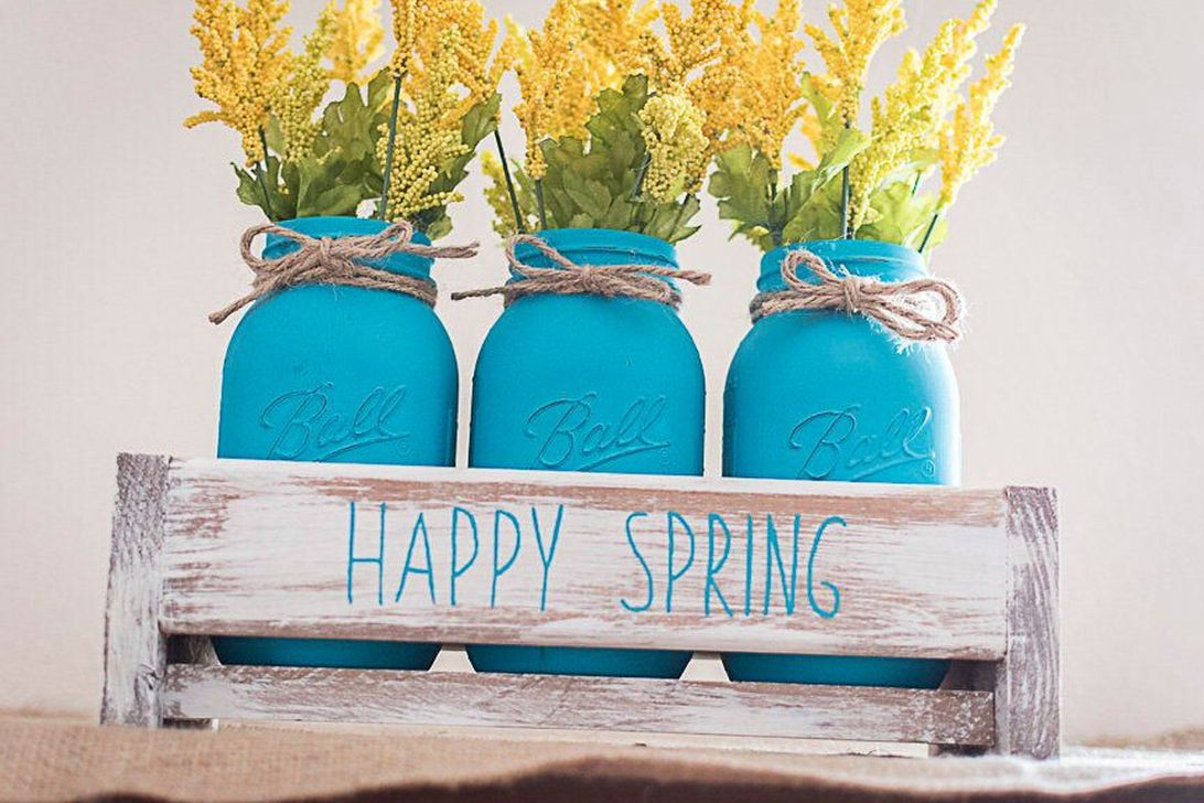 Popular DIY Spring Decor Ideas With Rustic Style 28