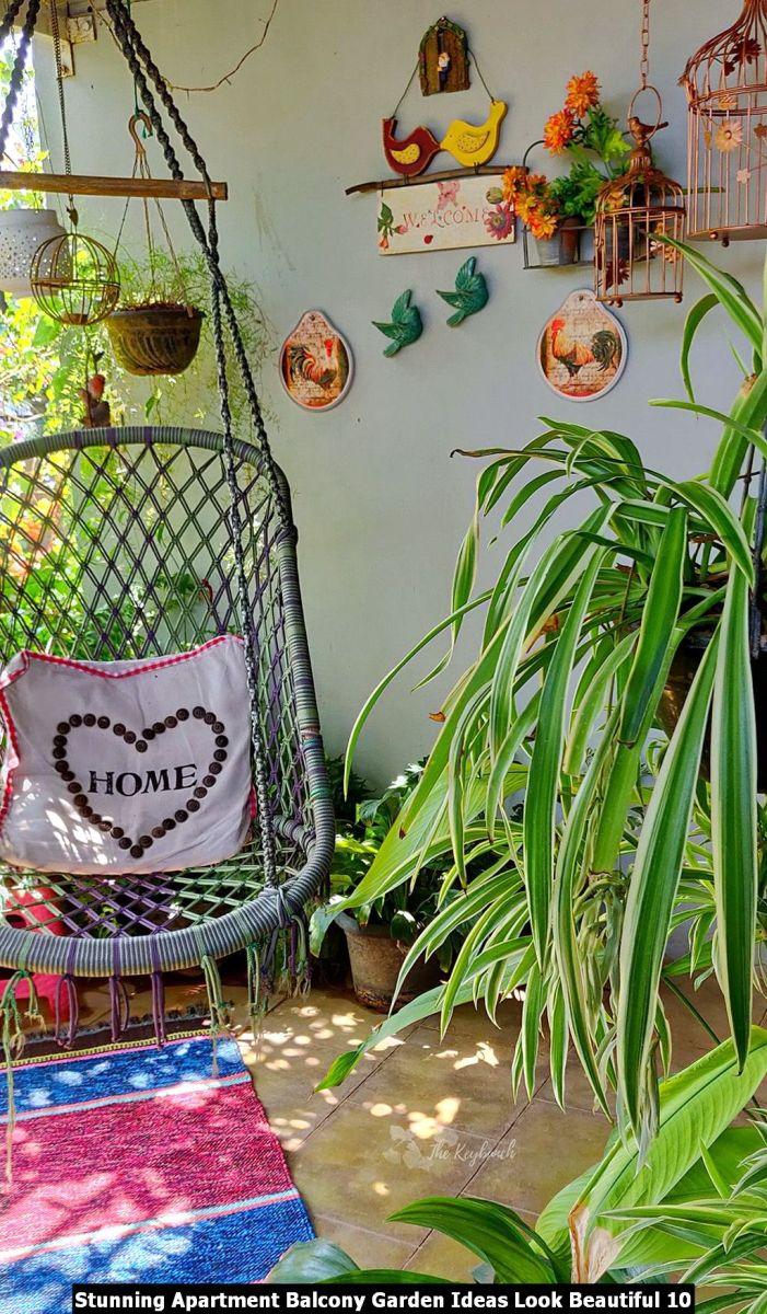 Stunning Apartment Balcony Garden Ideas Look Beautiful 10