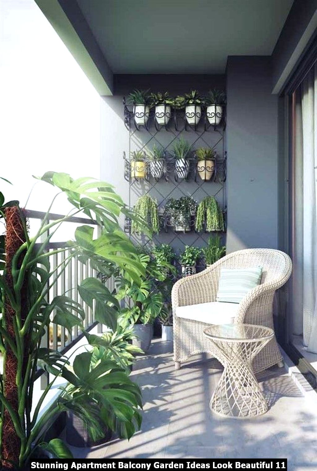 Stunning Apartment Balcony Garden Ideas Look Beautiful 11
