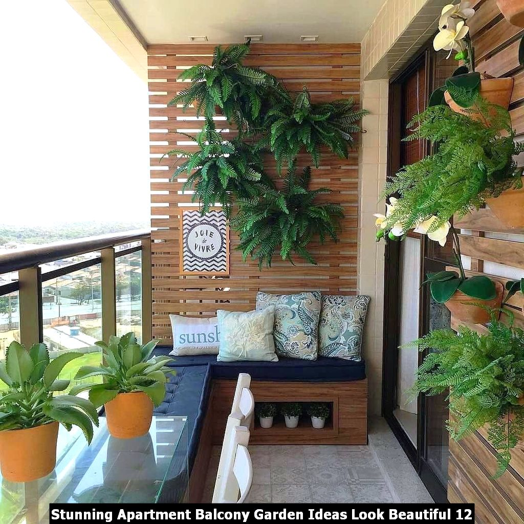 Stunning Apartment Balcony Garden Ideas Look Beautiful 12