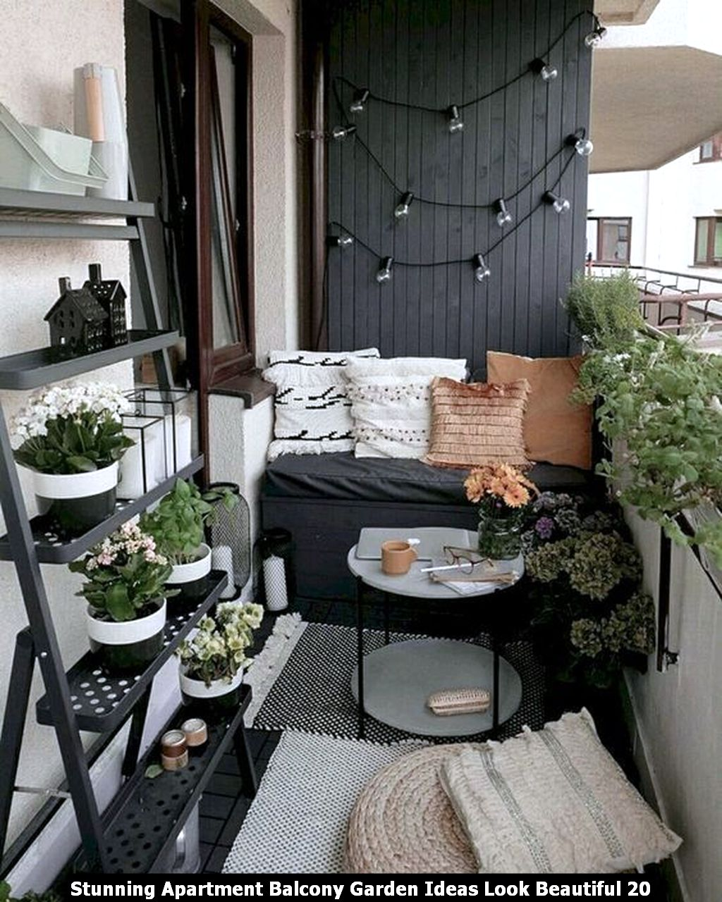 Stunning Apartment Balcony Garden Ideas Look Beautiful 20
