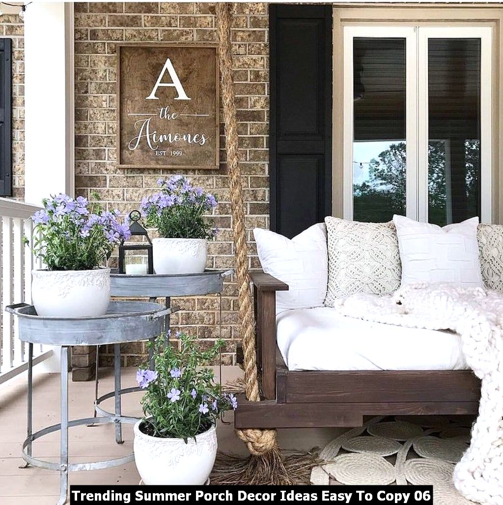 Trending Summer Porch Decor Ideas Easy To Copy 06