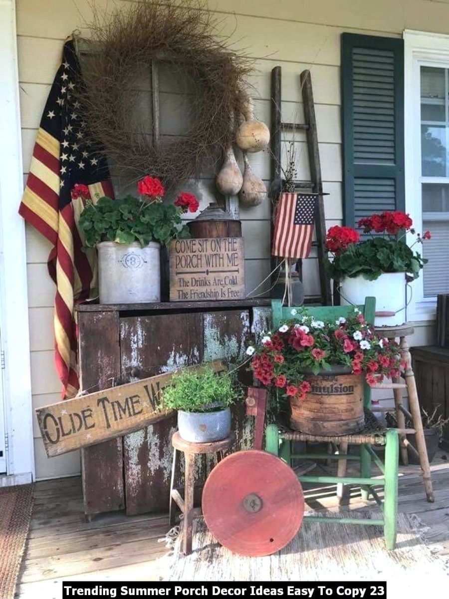 Trending Summer Porch Decor Ideas Easy To Copy 23