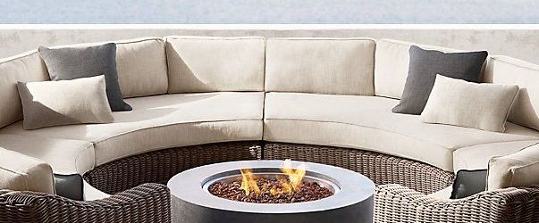 Outdoor Sectional With Fire Pit