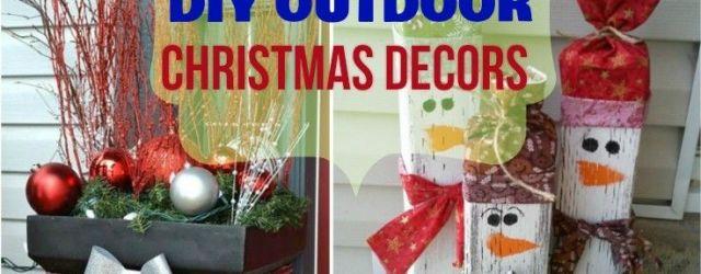 Homemade Outdoor Christmas Decorations