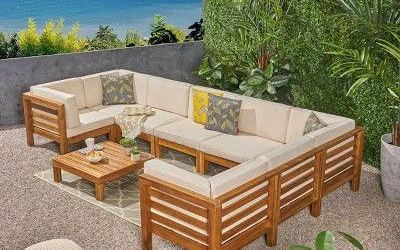 U Shaped Outdoor Sectional