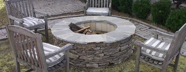 Outdoor Stone Fire Pit