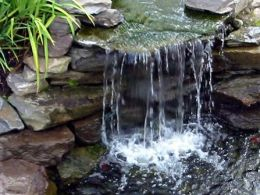 Mini waterfall in the garden