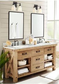 Rustic farmhouse style bathroom design ideas 40 - Hoommy.com