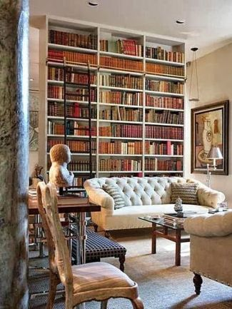 Inspiring Home Library Design and Decorations 13