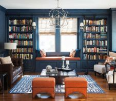 Inspiring Home Library Design and Decorations 30