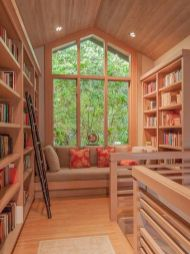 Inspiring Home Library Design and Decorations 46
