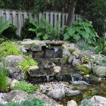 Make a mini waterfall in the garden 11