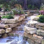 Make a mini waterfall in the garden 34