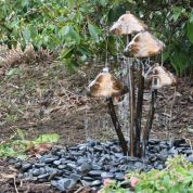 Make a mini waterfall in the garden 6