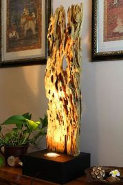 Amazing Wood Lamp Sculpture for Home Decoratios 10